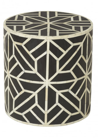 Mezai Inlay Side Table/Stool