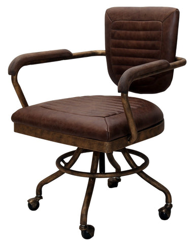 Leather and Bronze Office Chair