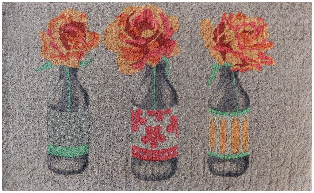 Flower Bottles Doormat