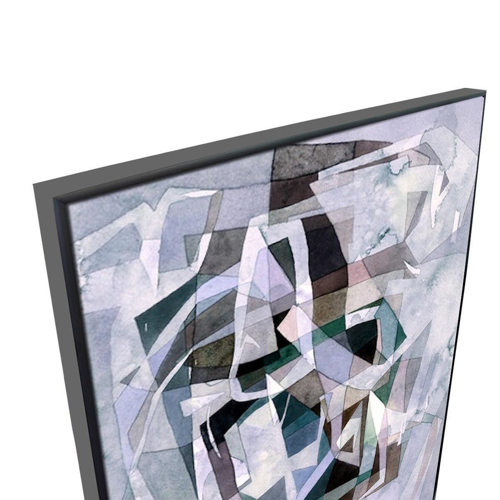 Paper Prism Canvas Painting with Floating Frame