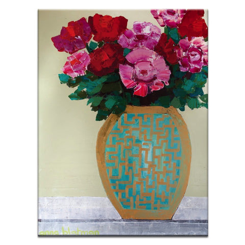 Pattern Vase Canvas Print