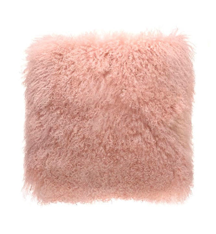 Pink Tibetan Fur Cushion