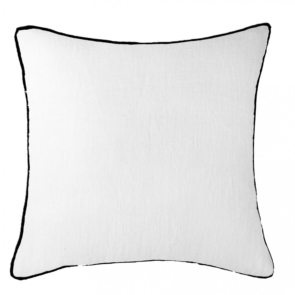 Piped Linen White with Black Cushion
