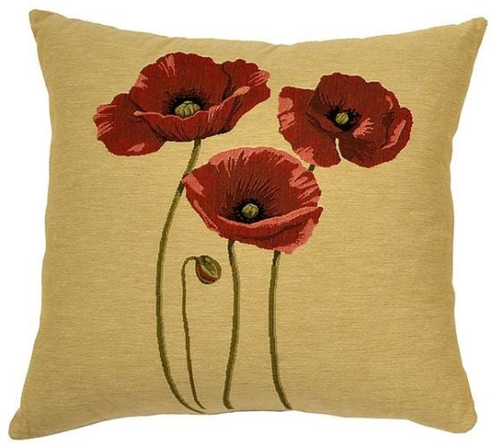3 Poppies Cushion