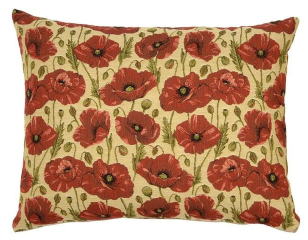 All Over Poppies Cushion Rectangular