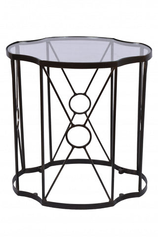 Tiered Set/2 Side Tables Dark Bronze