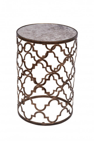 Circles Side Table Antique Gold