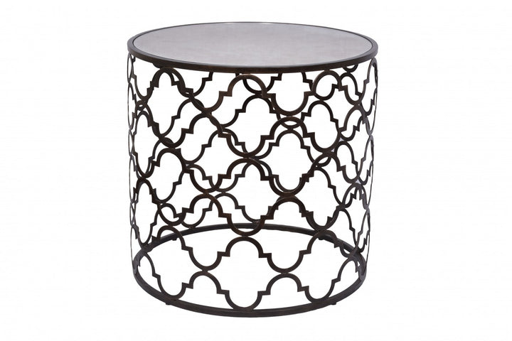 Quadrefoil Side Table Dark Bronze