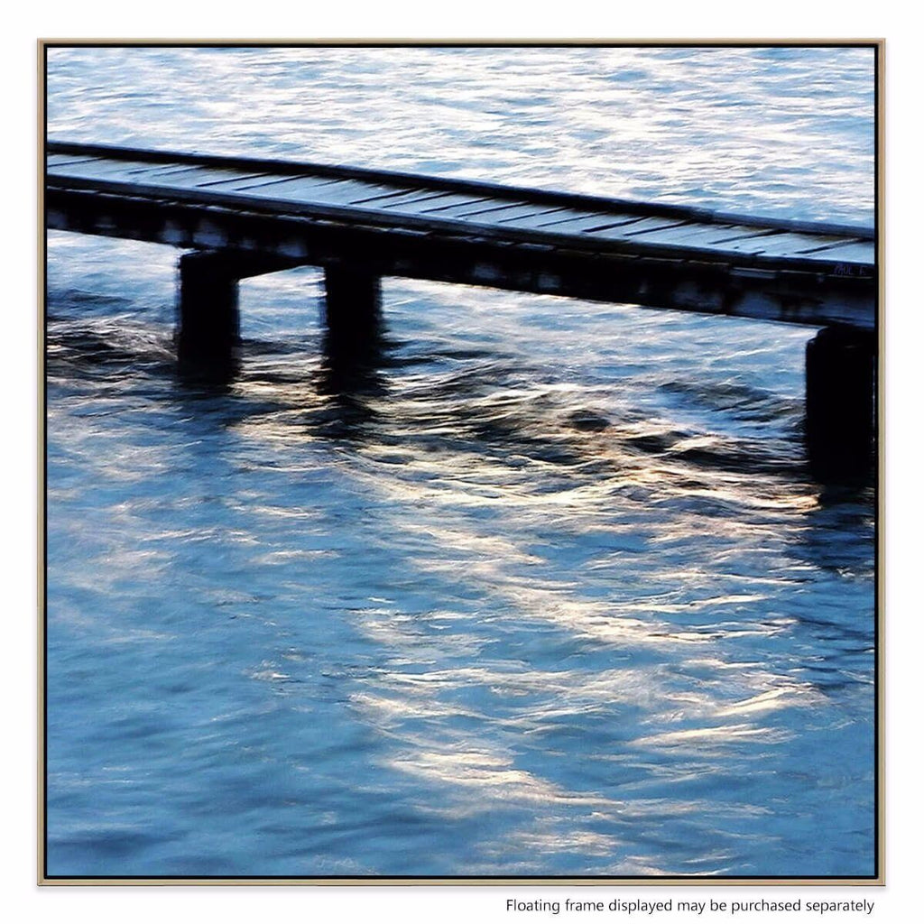Boat Jetty Canvas Print with Floating Frame