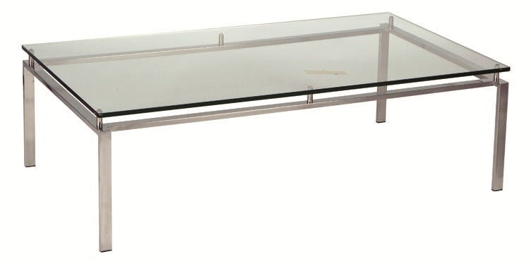 Reflective Coffee Table Clear Glass