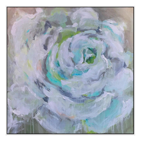 Rosa Bianca Canvas with Floating Frame