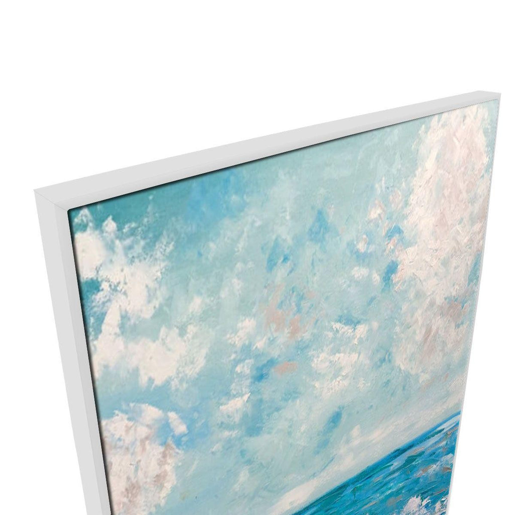 Sweltering Skies Canvas Painting with Floating Frame