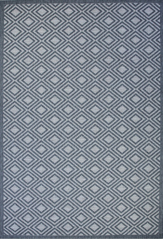 St Tropez Indoor/Outdoor Rug Grey Diamond