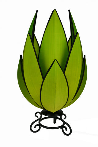 Artichoke Small Table Lamp Green with Black Trim