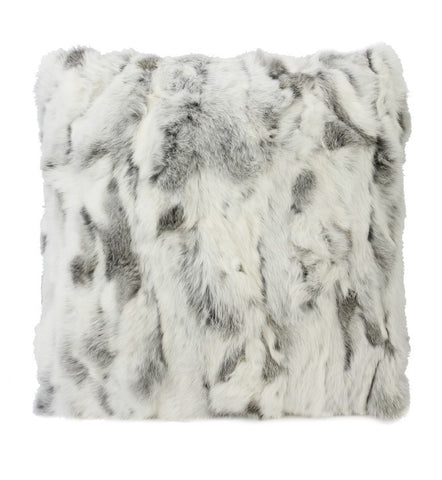 Siberian Ash Rabbit Fur Cushion