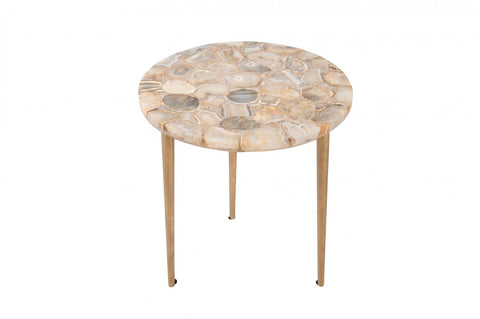 Palm Springs Agate Inlay Side Table
