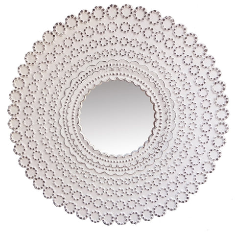 Carved Ornate Round Mirror