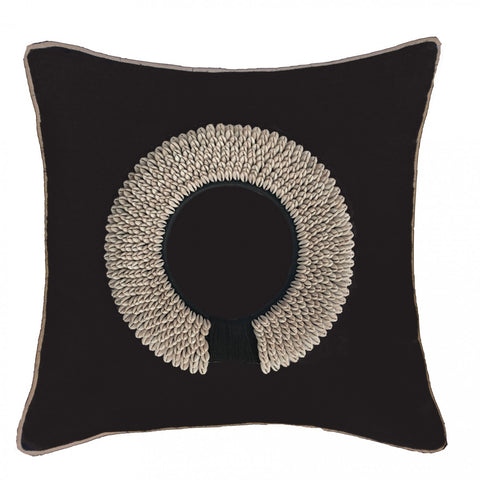 Shell Ring Black on Black Cushion