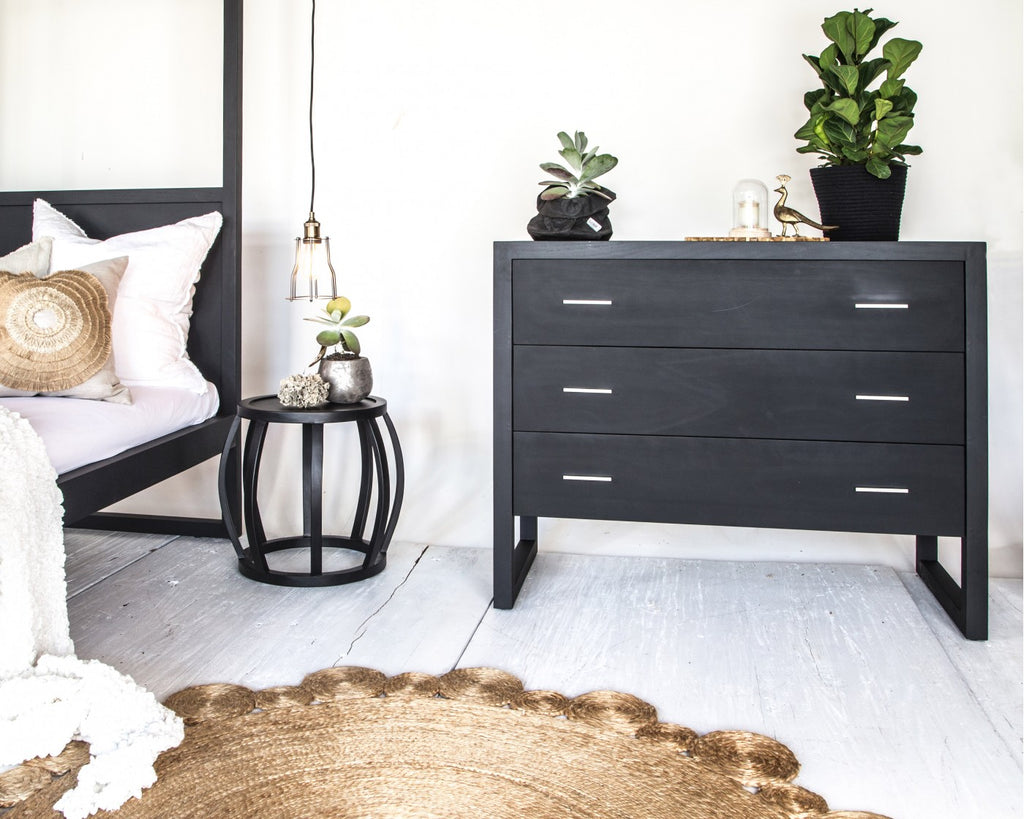 Strand Chest of Drawers French Oak Black