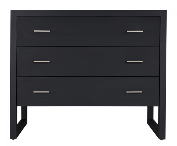 Strand Chest of Drawers Oak Black