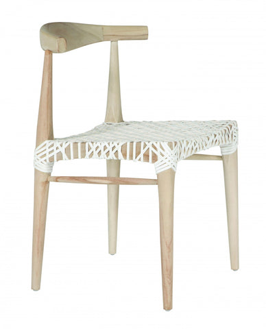 Sweni Horn Rope Indoor/Outdoor Barstool Taupe