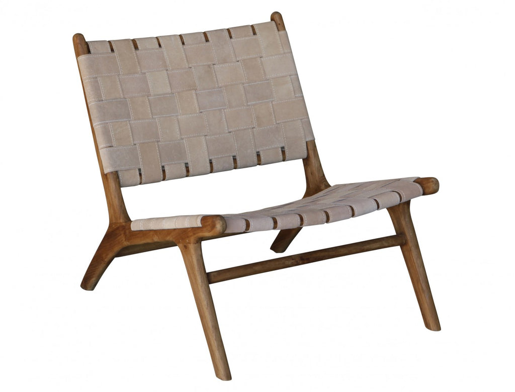 Woven Suede Strap Occasional Chair