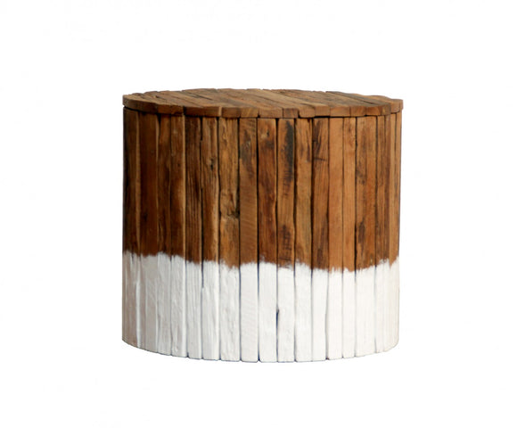 Driftwood Drum Coffee Table