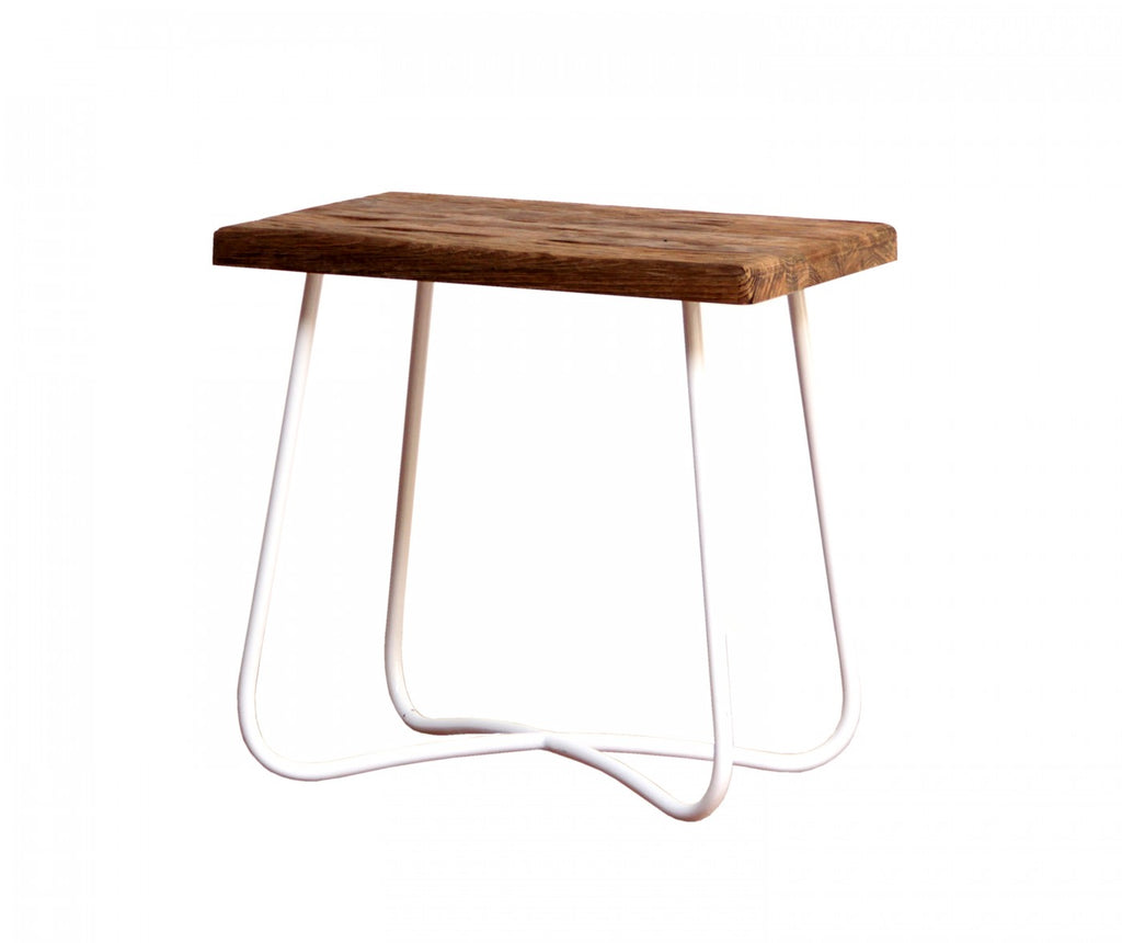Low Curve Stool White