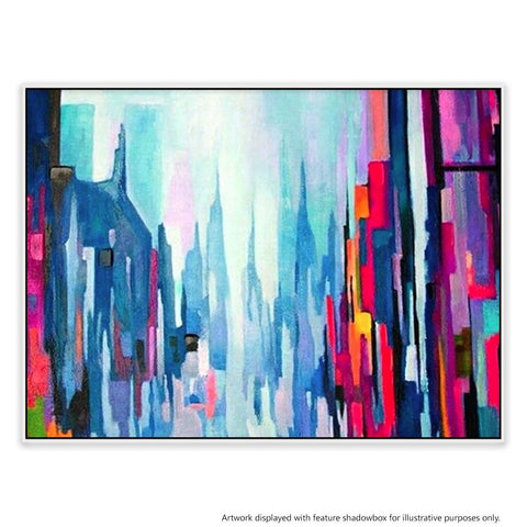 Manhattan 7 Canvas Painting with Floating Frame