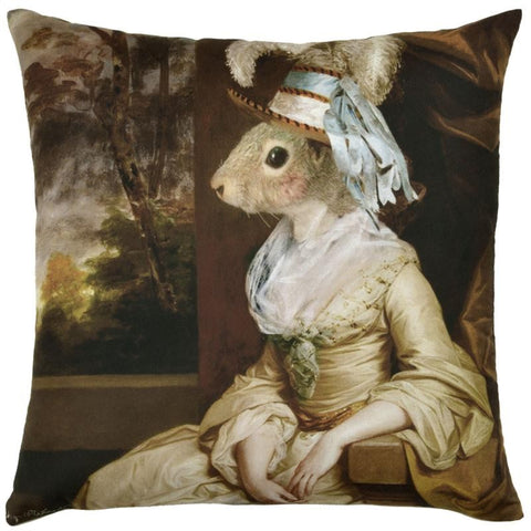 Pantomime Animals Cushion Mrs Squirrel