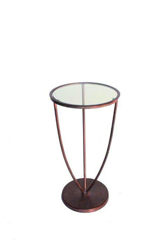Trident Side Table Tarnished Copper