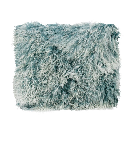 Blue Snowflake Tibetan Fur Cushion