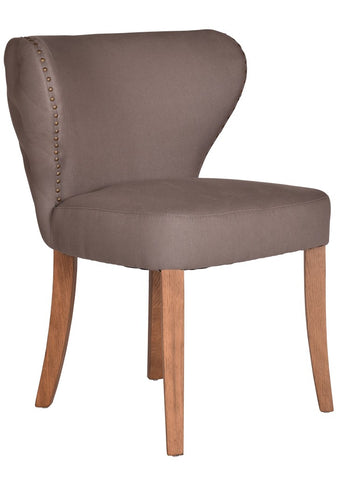 Ritz Curved Back Dining Chair Storm Buttoned