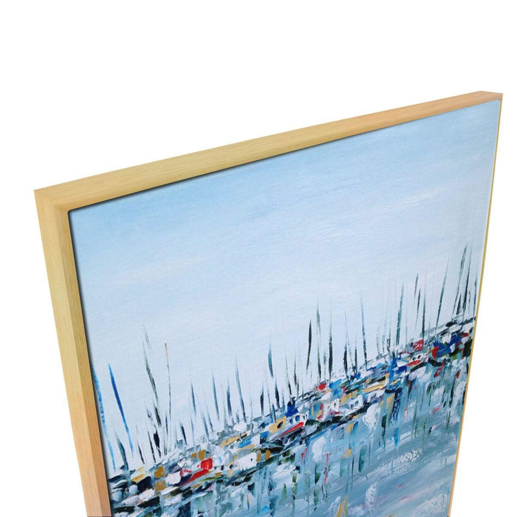 Marina Bay Canvas Painting with Floating Frame