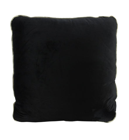 Black Velvet Cushion Gold Piping