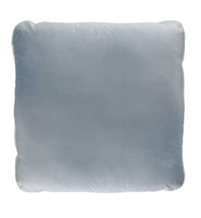 Blue Grey Velvet Cushion