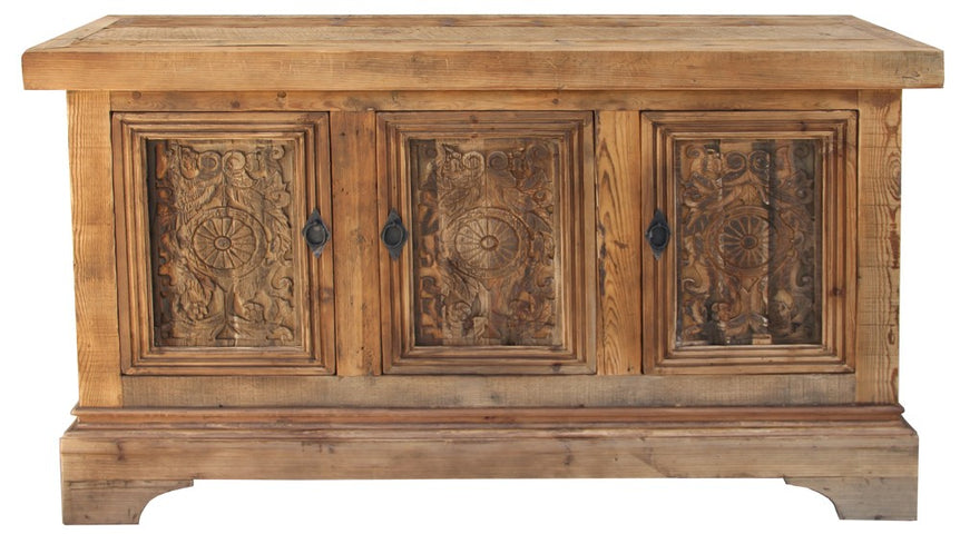 Short Sideboard with Carved Doors