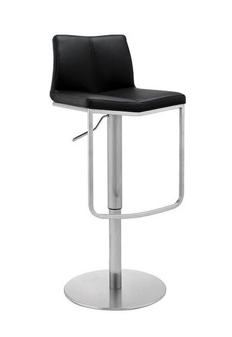 Gas Lift Leather Bar Stool