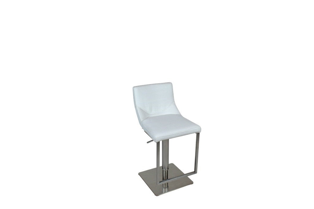 Angled Gas Lift Leather Bar Stool