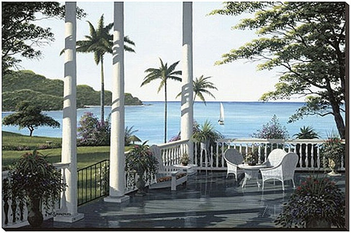 Caribbean Verandah Tapestry with Rod