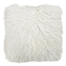 White Tibetan Fur Cushion