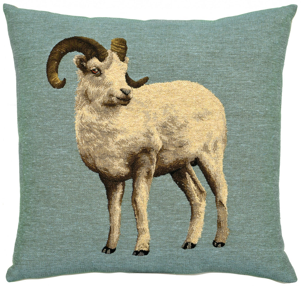 Woollen Animals Ram Cushion