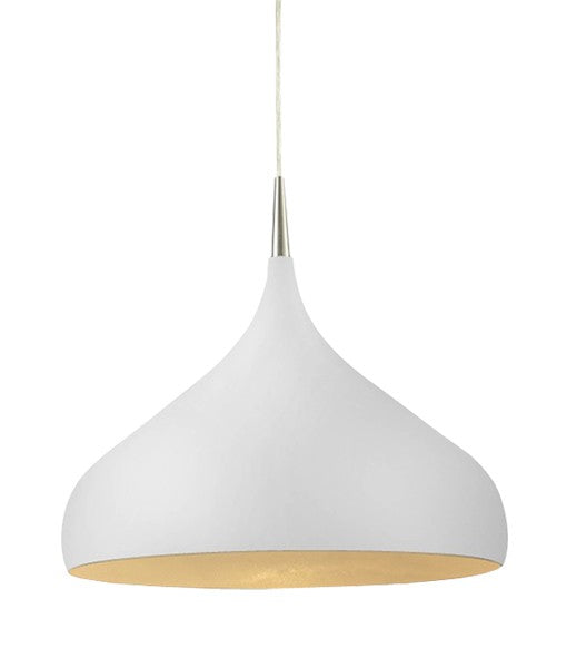 Zara Dome Shape Pendant Matt White