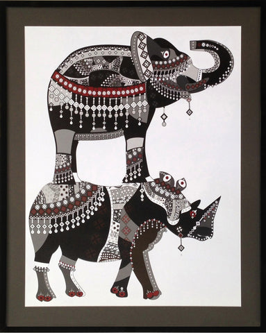 Jewels of India Framed Print