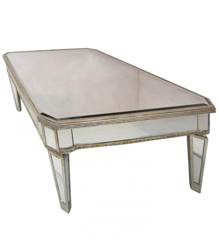 Antique Mirror Rectangular Coffee Table