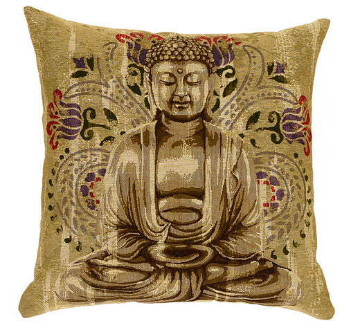 Buddha & Flowers Cushion