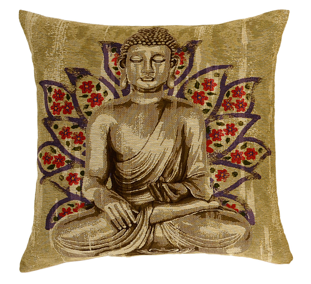 Buddha & Lotus Cushion