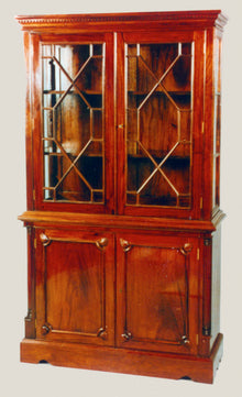 Chippendale Bookcase/Cabinet 2 Door