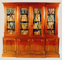 Chippendale Breakfront Bookcase 4 Door