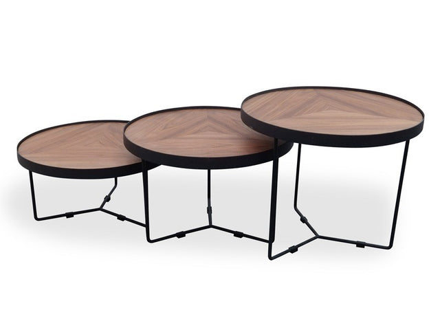 Holm Coffee Table Black/Walnut 60cm x 50cm